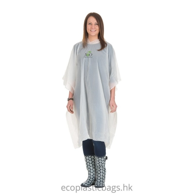 100% compostable 雨衣